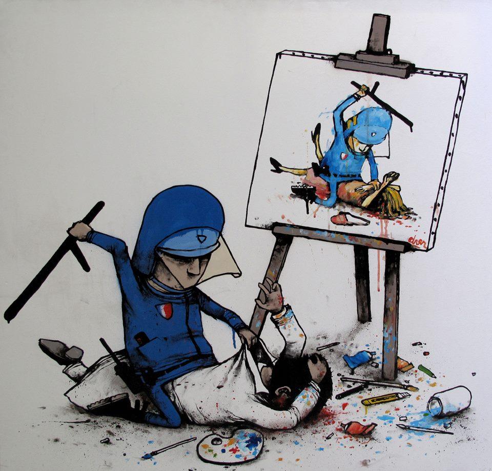 policia-pegando-a-artista